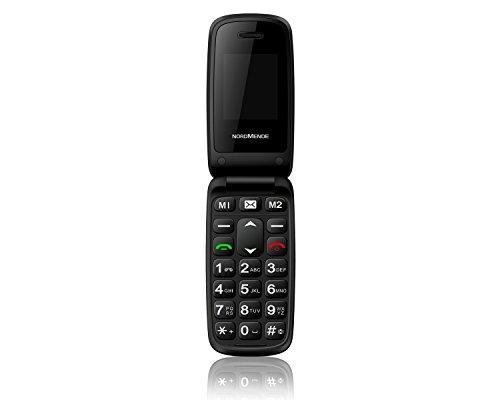 NORDMENDE FLIP50S Senioren-Handy mit SOS-Taste großer Tastatur Bluetooth MicroSD Mobiltelefon Notruftaste Schwarz