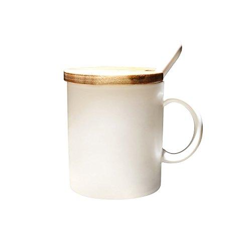 SSBY La Tasse De Café De Matte De Européenne Blanche Matte Céramique De Haute Qualité Avec La Tasse Tasse De Café Simple