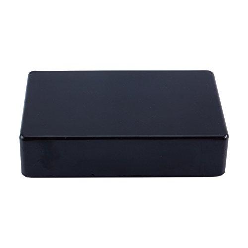Caja de Conexiones de Alimentación Caja de Conexión Eléctrica Caja Plástica Caje Negra 100 x 60 x 25 mm