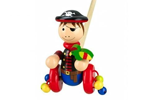 Orange Tree Toys Wooden Pirate Push Along