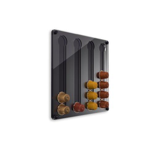 Plexidisplays 1303122 Wand-Kapselhalter für Nespresso-Kapseln, Design Klassik Mini, 29 x 29 cm,...