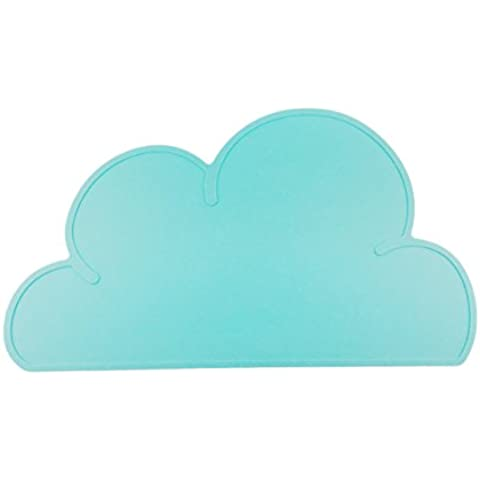 YARBAR Nube de Silicona Para Bebés Alimentos en Forma Manteles Mat de Comedor