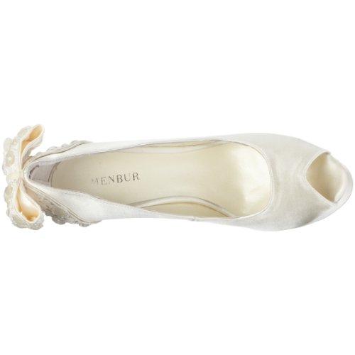 MENBUR Inma 04340, Scarpe eleganti donna Avorio