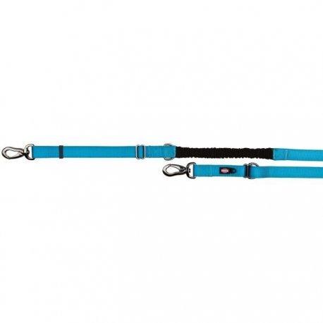 Trixie Experience Verstellbare Führleine mit Lenkungsdämpfer Schock L? XL: 2,20? 2,40m/25mm blau für Hunde