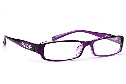 NEW UNISEX (Damen Herren) Flower Blumen Retro Vintage Lesebrille Brille +0.50 +0.75 +1.0 +1.5 +2.0 +2.5 +3.00 +4.00 Reading glasses Morefaz(TM) (+3.5, Purple)