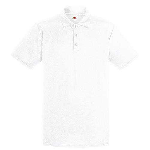 Fruit of the Loom Herren Modern T-Shirt Gr. XXX-Large, weiß (Striped Knit Shirt Pique Pocket)