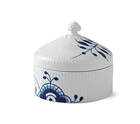 Royal copenhagen blue fluted mega bonbonniere 54cl