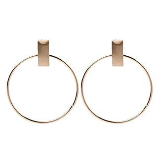 Guangtian women's rectangle bar statement large hoop dangling earrings geometric circle drop jewellery for women girls gift MULTISIZE A-gd