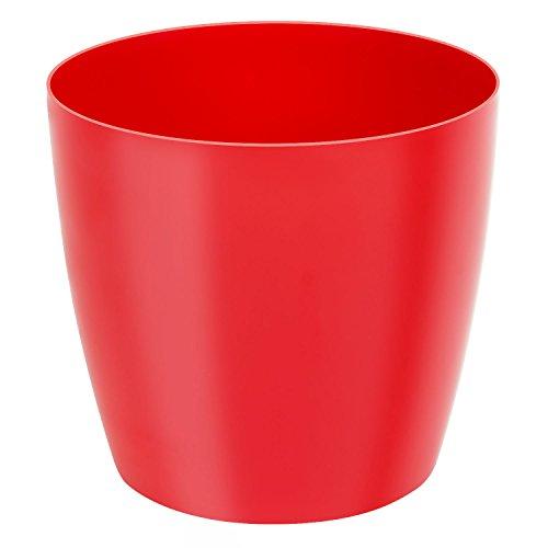 Classique luisant cache-pot LOBELIA, 32 cm, en rouge