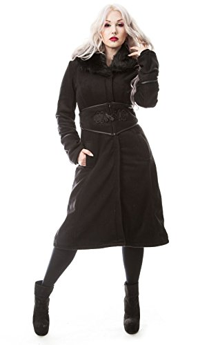 Poizen Industries -  Cappotto  - Donna nero L