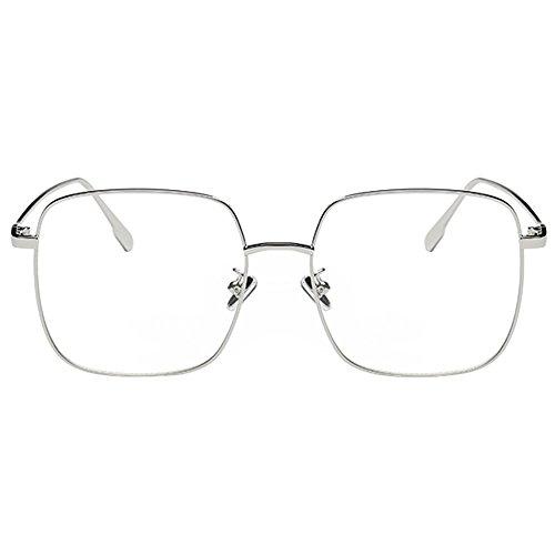Zhuhaixmy Koreanisch Groß Quadrat Rahmen Anti-Strahlung Blau Licht Filter Coated Gläser Kurzsichtigkeit Brillen -1.0~-5.0 (Diese sind nicht Lesen Brille)