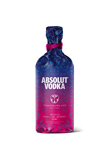 Absolut Vodka Original - Tomorrowland Festival Limited Edition mit Tomorrowland Drink Rezept auf der Flasche - 1 x 0,7 L