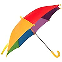Mountain Warehouse Kids Rainbow Umbrella - Fun & Colourful Rainbow Fabric Sun Brolly, Easy Care Rain Umbrella - Open: 40cm - For Summer, Garden, Picnic & Patio