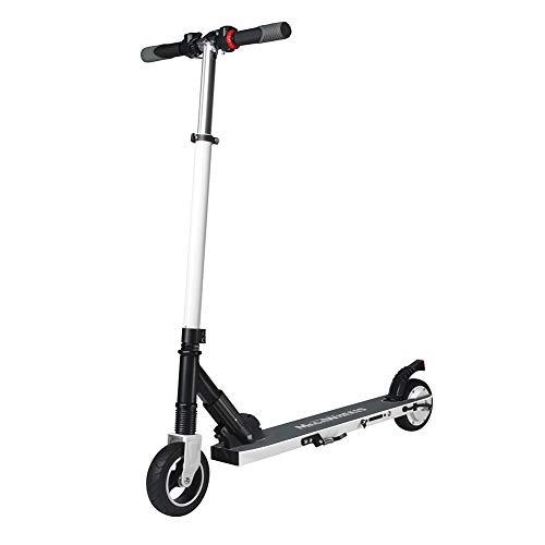 MEGAWHEELS Patinete eléctrico Unisex–Smart Scooter Monopatín Traverser Ciudad Cool rechargqble Seguridad Auto-équilibrage Regalo niño Joven Transporter Personal, Color Negro