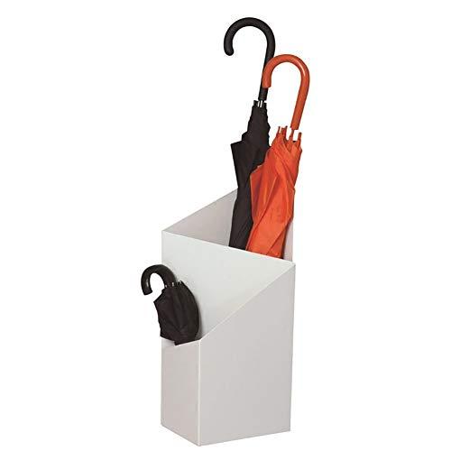 Schirmständer Metall, Aufbewahrung für Haushaltschirme, Weiß 20 × 25 × 60 cm, für Innen, Außen, Flur