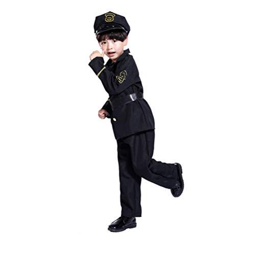 Polizei Boy Kostüm - Holibanna Kinderpolizist Uniform Halloween Party Boys Cosplay Polizei Kostüm Anzug ohne Spielzeugpistole
