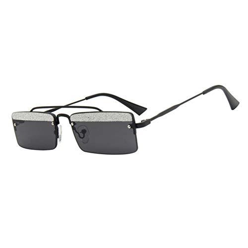 Kjwsbb Rechteck Sonnenbrille Frauen Männer Retro Small Size Sommer 2019 Schwarz Braun Randlose Sonnenbrille Für Unisex