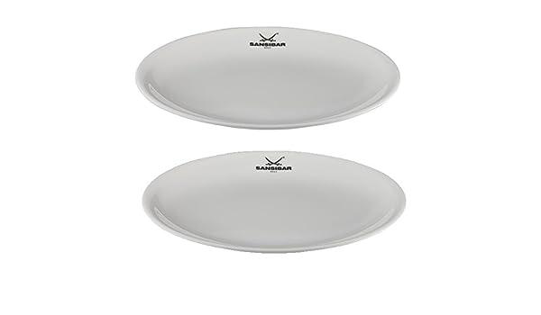 2er Set Porzellan mit Sansibar Logo R/ösle Essteller /Ø: 25 cm Speiseteller Sansibar