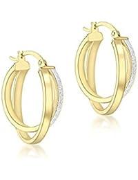 6270d6828c1a Oro amarillo - Pendientes   Mujer  Joyería - Amazon.es