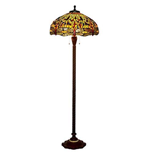 Lámpara estándar de 20 Pulgadas Estilo Tiffany Lámpara de pie Estilo Americano...