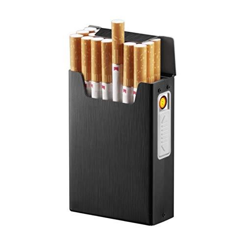 Zigarettenspitze Box mit USB Elektronik Feuerzeug Flammenlos Winddicht Tabak Zigarettenetui & Feuerzeug Männer Geschenk