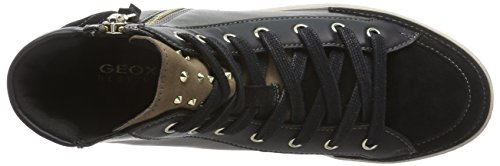 Geox D MODESTY A Damen Hohe Sneakers Schwarz (C9253BLACK/DOVE GREY)