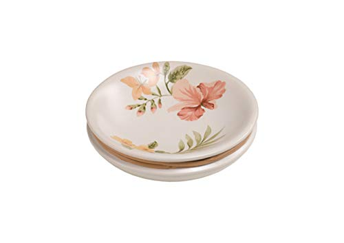 Yoka Home Kauai Rustikale Seifenschale aus Keramik Vintage Seifenablage ohne Boren Ringablage Seifenhalter Schmuckablage Seifenkiste Hand, Keramik