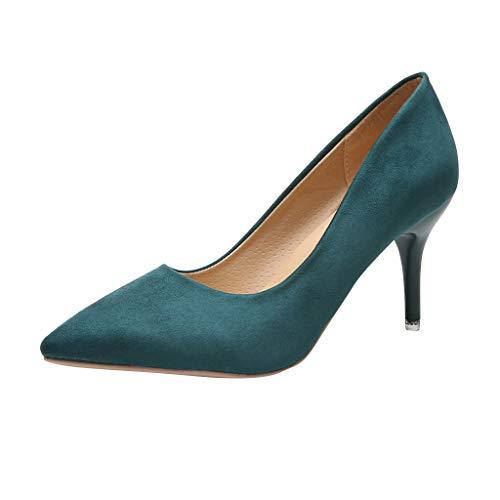 Damen Damen High Heels Abend Arbeit Slip-On Plateauschuhe Brautparty Prom Gericht Schuhe Wildleder Leder Leopard/Solid Color Spitz Pumps Plus Größe -