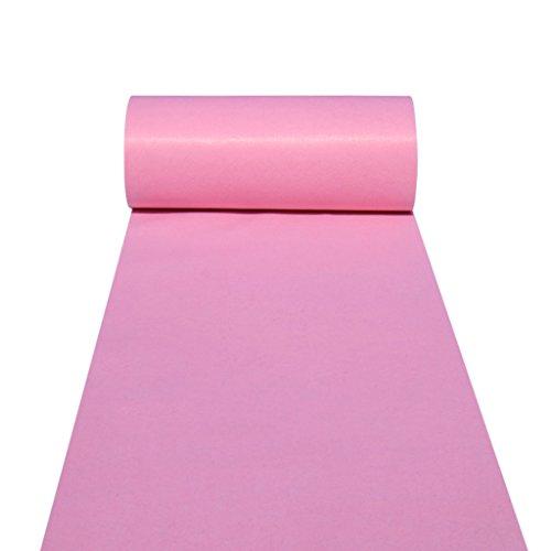 ner Teppichläufer für Hall Stair Party Hochzeit Hochzeit Aisle Carpet Runner Echtes Rosa (Color : Pink, Size : 1.2m*50m) ()
