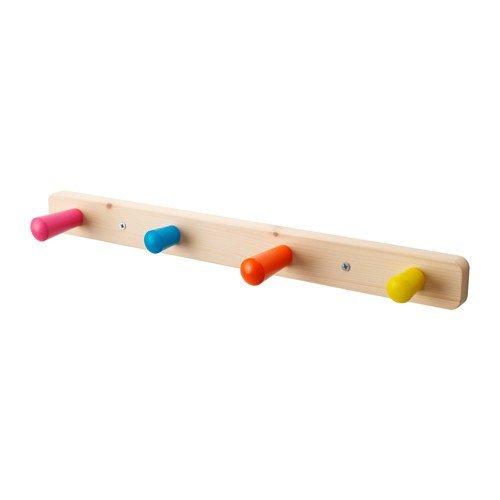 IKEA Kinder Garderobe FLISAT Holz mit 4 Haken