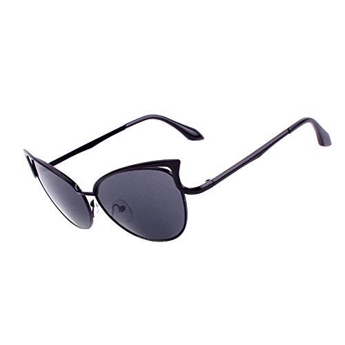 Honestyi Männer Frauen klare Linse Gläser Metall Brillengestell Myopie Brillen Sonnenbrillen BZ034 Katzenohren