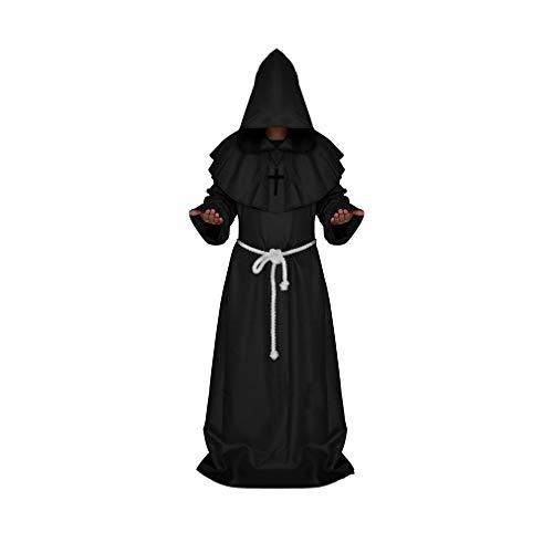Uomini e Donne Adulto Abbigliamento Accappatoio Halloween Gioco di Ruolo Abbigliamento Cristiano Abito Uniforme,5 Diversi Colori