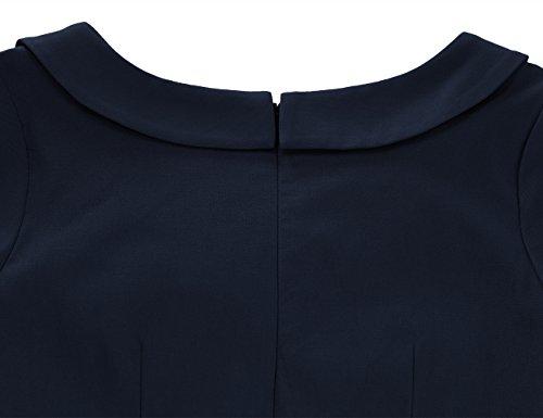 MUXXN Vestiti Donna Anni 50 Vintage Vestiti Da Sera Donna Deep Blue