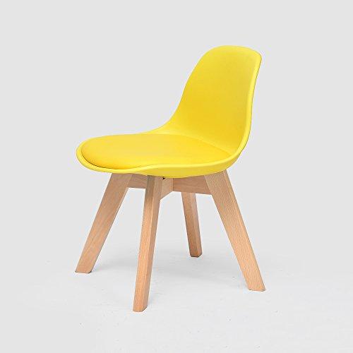 Student Children's Chair, Kindergarten Sitz, Lernen Stuhl, Massivholz Hocker, Geeignet für Schüler Schreibstuhl, Buche, Sicherheit PP, Mehrere Farben, Größe L: 33 cm, B: 33 cm, H: 55 cm ( Farbe : G )