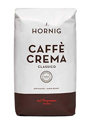 J. Hornig Kaffeebohnen Espresso, Caffè Crema Classico, 1000g, schokoladiges & nussiges Aroma, für Vollautomaten, Siebträgermaschine oder Espressokocher, ganze Bohnen