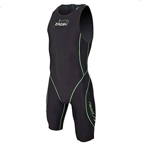 ZAOSU Herren Freiwasserschwimmanzug Z-Black knielang | Openwater Triathlonanzug, Größe:L