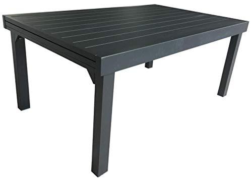Wilsa Ensemble Table + Chaises MODULO Aluminium Gris - T6/10
