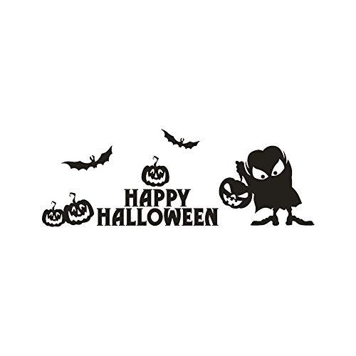 Happy Halloween Pumpkin Bone Wall Sticker Window Home Decal Wall Stickers Home Room Decor Wall Stickers (Happy Halloween Winnie The Pooh)