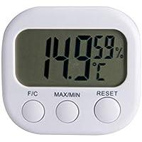 Vosarea Termometro Digitale igrometro Indicatore di umidità per Uso Domestico
