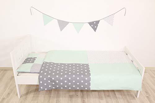 Junto ropa cama niño ULLENBOOM ® menta gris juego
