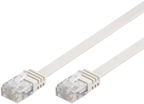 Flachkabel 20m weiß, Ethernet LAN Patchkabel Gigabit Netzwerkkabel Patch Kabel weiß flachband Kabel flach band (RJ45, Cat 6) 2xRJ45 Stecker ideal für Switch, DSL Verbindungen, Patchfelder, Patchpanel, Router, Modem, WLAN und andere Geräte mit RJ45 Anschluß, CAT Kabel KAT Kabel CAT6 ISDN Kabel flach Kabel