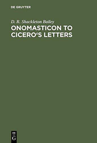 Onomasticon to Cicero's Letters