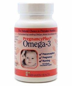 Fairhaven Health - Oméga 3 pour GROSSESSE 90 gélules, 1 Mois (PregnancyPlus®) - Santé du Foetus, Bébé & Enfant - Contient EPA & DHA de Qualité Pharmaceutique - Complément Alimentaire Bio-Actif Breveté pour Femmes Enceintes à base d'Huile de Poisson PURE - Parfum Naturel Agrume (Oméga-3 Pregnancy Plus capsules - Fish Oil Supplement)