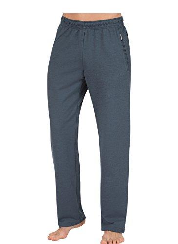 Trigema Herren Sporthose 674092, Blau (Jeans-Melange 643), 54 (Herstellergröße: XL) (Walking Baumwolle Shorts)
