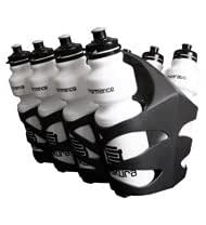 Makura Water Bottles (8) with Carrier - White/Black - 750ml  **FREE UK DELIVERY**