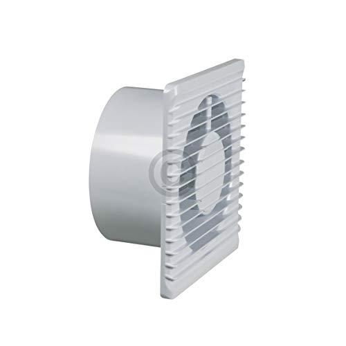 Wohnraumventilator mit Feuchtigkeitssensor und Drehpotentiometer Bad 125erR weiß