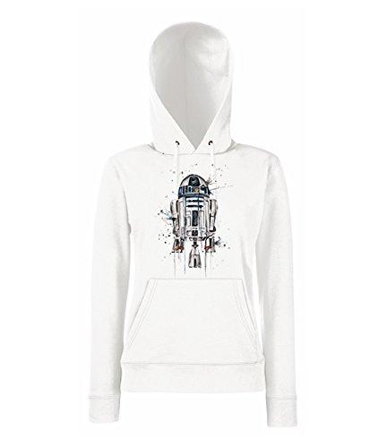 TRVPPY - Sweat Pull à capuche, modèle R2D2 - Femme, différentes tailles et couleurs Blanc