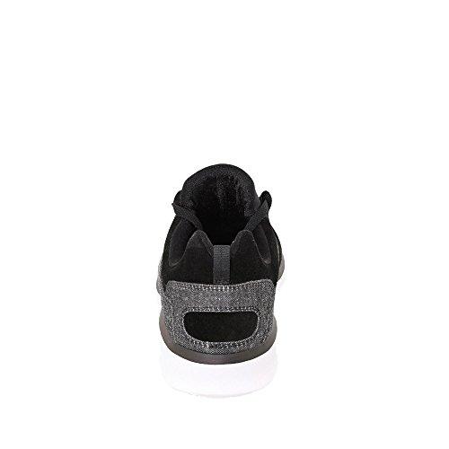 Dc Adys700073-bw8 Heathrow Uomo Sneaker In Pelle Scamosciata E Canvas Eva-sole Nero (lavaggio Nero Bw8)