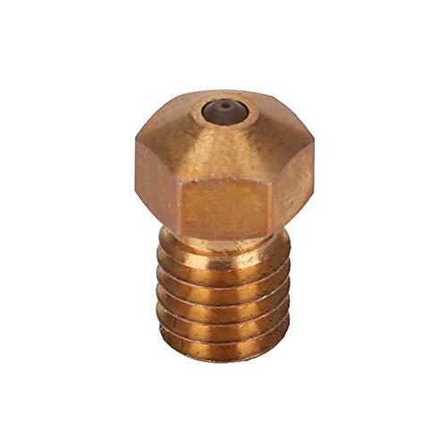 3D-Druckerzubehör Extrudersprühdüse 1,75 mm, kompatibel mit PETG ABS PEI PEEK, derzeit verfügbare V6-Saphir- und Rubindüsen mit einer Größe von 0,4 mm / 1,75 mm(Saphir-Düse)