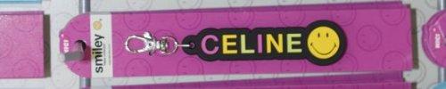 Schlüsselanhänger Smiley Celine, mit Karabiner